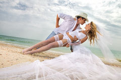 Wedding on beach Royalty Free Stock Images