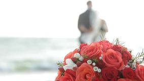 Wedding On The Beach stock footage