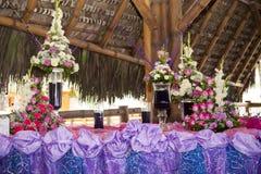 Wedding at the beach in Ecuador Royalty Free Stock Image