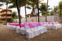 Wedding at the beach in Ecuador Stock Photos