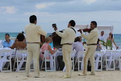 Wedding on the beach in Mexico Royalty Free Stock Photography