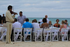 Wedding on the beach in Mexico Stock Photo
