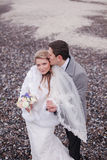 Wedding on the beach in winter Royalty Free Stock Photography