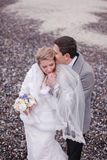 Wedding on the beach in winter Stock Images