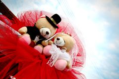 Wedding bears Royalty Free Stock Images