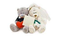 Wedding bears Royalty Free Stock Images