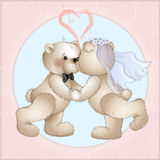 Wedding bears have Stock Photo