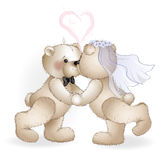 Wedding bears have Royalty Free Stock Photo