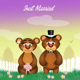 Wedding of bears Royalty Free Stock Photos
