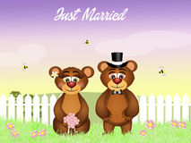 Wedding of bears Stock Image