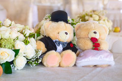 Wedding bears Royalty Free Stock Photography