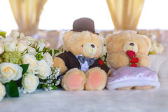 Wedding bears Royalty Free Stock Photos