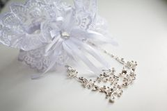 Wedding Beautiful adornment Stock Photo
