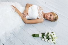 Wedding. Beautiful bride Royalty Free Stock Photography