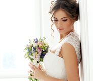 Wedding. Beautiful bride. With bouquet