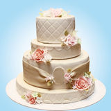 Wedding beautiful cake Royalty Free Stock Photography