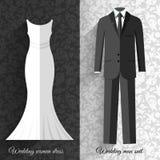 Wedding beautiful suits clothing ornamental style Stock Photo