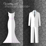 Wedding beautiful suits clothing ornamental style Royalty Free Stock Photos