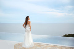Wedding. Beauty Fashion Elegant bride woman. Brunette model in l Royalty Free Stock Images