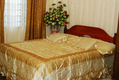 Wedding Bed Royalty Free Stock Photo