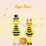 Wedding of bees Royalty Free Stock Photos