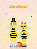 Wedding of bees Royalty Free Stock Image
