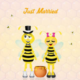 Wedding of bees Stock Images