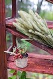 Wedding berries in jar Royalty Free Stock Photos