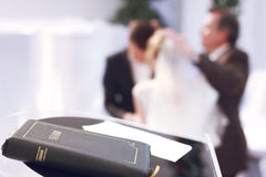 Wedding and Bible Royalty Free Stock Photography