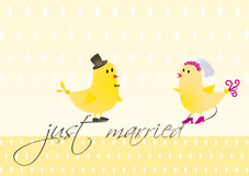 Wedding_birds.indd Lizenzfreie Stockbilder