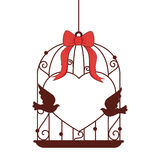 Wedding birds romantic card Stock Images