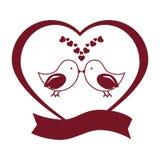 Wedding birds romantic card Stock Photos