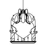 Wedding birds romantic card Royalty Free Stock Image