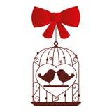Wedding birds romantic card Stock Photo