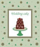 Wedding or birthday cake card stock photography