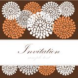 Wedding birthday card or invitation with abstract lace floral background, greeting postcard,  illustration Stock Photo