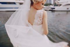 Wedding blond couple Stock Images
