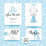 Wedding blue card Stock Photography