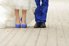 Wedding in Blue Color Royalty Free Stock Image