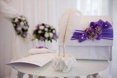 Wedding blue decor. Wedding design in blue style. beautiful decor Royalty Free Stock Photos