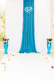 Wedding blue decor Royalty Free Stock Photography