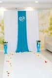 Wedding blue decor Royalty Free Stock Photo