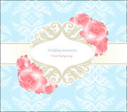 Wedding blue seamless  background with flower Stock Photography