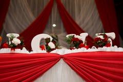 Wedding Blumendekoration Stockbilder