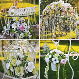Wedding Blumendekoration Stockfoto