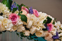 Wedding Blumendekoration Lizenzfreie Stockfotos