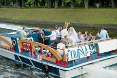 Wedding boat Royalty Free Stock Photography