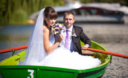 Wedding in boat Royalty Free Stock Image