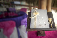 Wedding book for signatures Stock Images