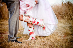 Wedding boots Royalty Free Stock Image
